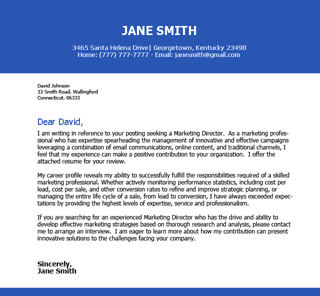 Sample Email Cover Letter Customer Service
