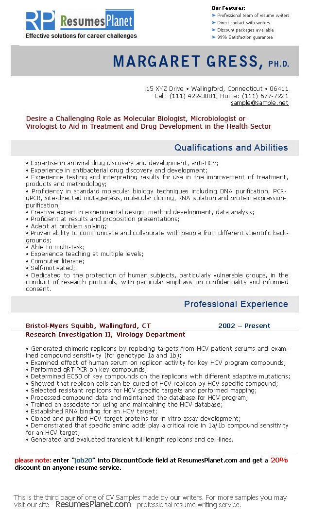Resume Resume Example Personal Skills cv samples resumesplanet com samples