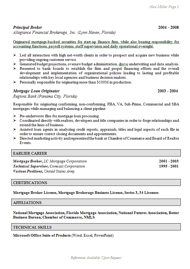 resume for federal government jobs